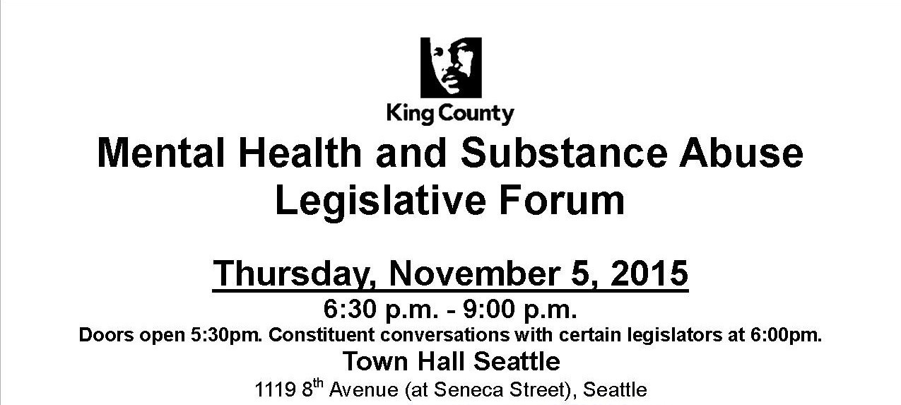 Join Us For The King County Legislative Forum Recovery Cafe